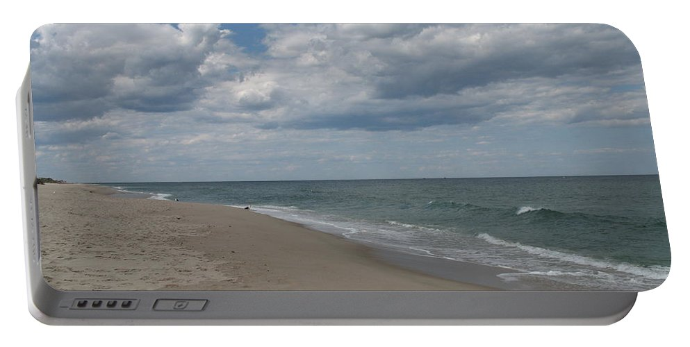 Clouds Portable Battery Charger featuring the photograph Clouds Over The Sea by Christiane Schulze Art And Photography