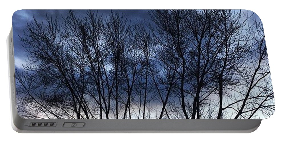 Life Portable Battery Charger featuring the photograph Clouds Through Trees by Frank J Casella