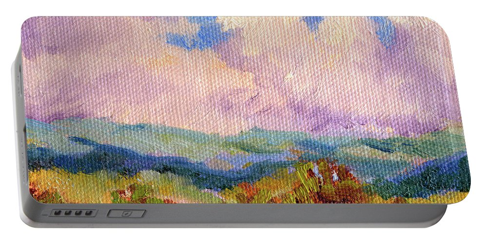 Impressionism Portable Battery Charger featuring the painting Cloudscape 2 by Keith Burgess