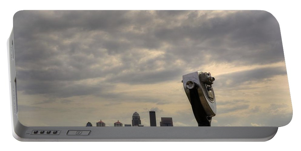 Louisville Portable Battery Charger featuring the photograph Cloudy Louisville by FineArtRoyal Joshua Mimbs