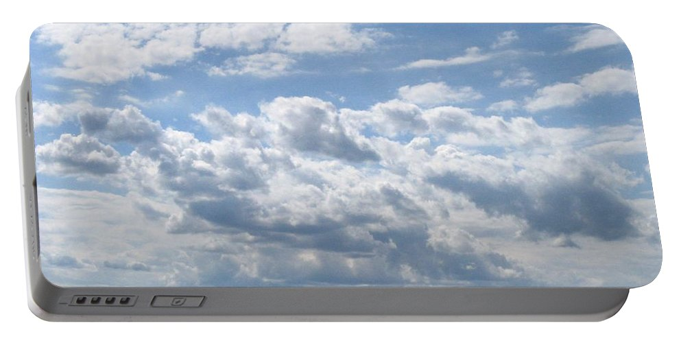 Clouds Portable Battery Charger featuring the photograph Cloudy by Rhonda Barrett
