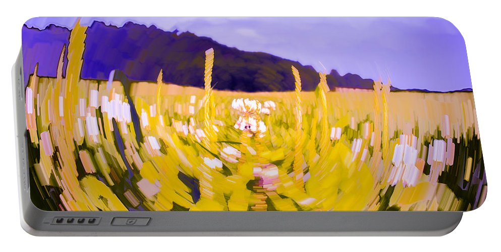 Abstract Portable Battery Charger featuring the photograph Clover by Jeff Sebaugh