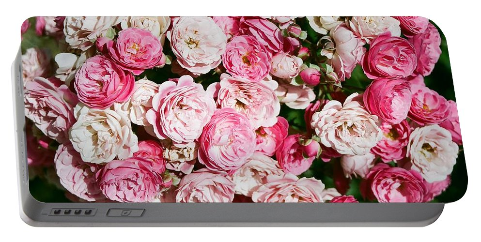 Rose Portable Battery Charger featuring the photograph Cluster Of Roses by Dean Triolo