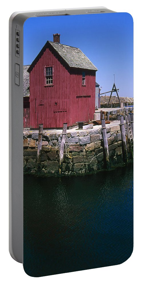 Landscape New England Rockport Motif Number 1 Portable Battery Charger featuring the photograph Cnrf0506 by Henry Butz