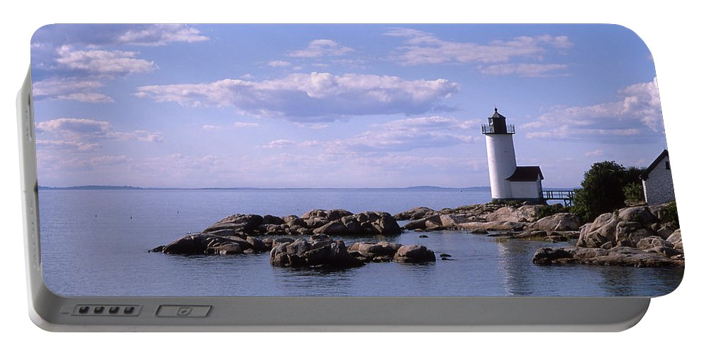Landscape Lighthouse New England Nautical Portable Battery Charger featuring the photograph Cnrf0901 by Henry Butz