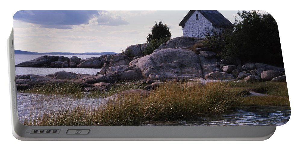 Landscape Beach Storm Portable Battery Charger featuring the photograph Cnrf0909 by Henry Butz