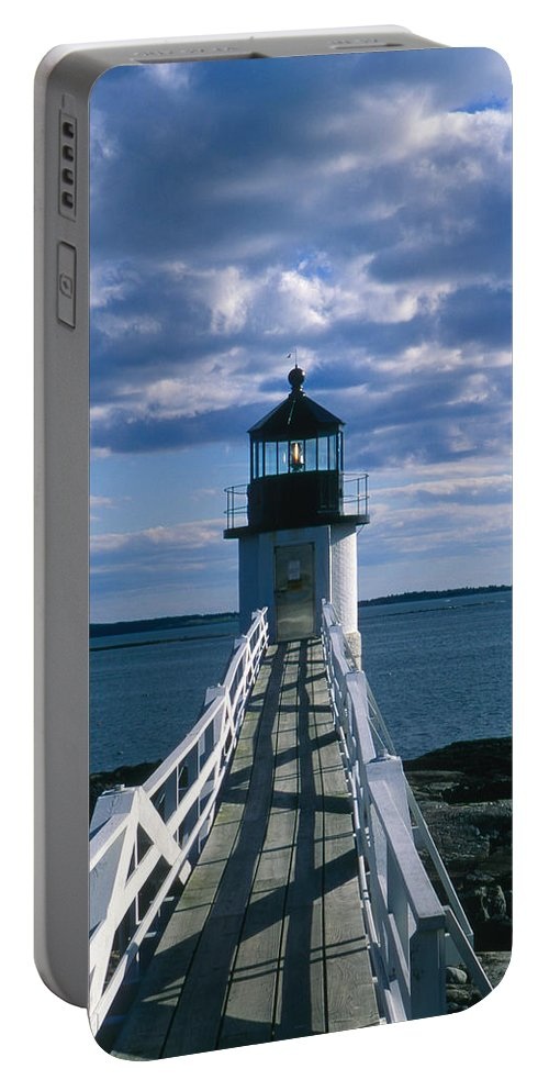 Landscape Lighthouse New England Marshall Point Light Port Clyde Portable Battery Charger featuring the photograph Cnrh0603 by Henry Butz