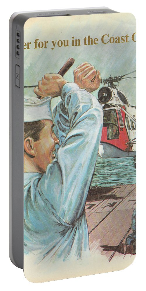 Coast Guard Portable Battery Charger featuring the painting Coast Guard Career by Jerry McElroy