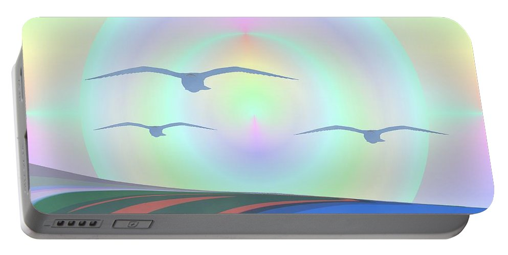 Coast Portable Battery Charger featuring the digital art Coastal Delight by Tim Allen