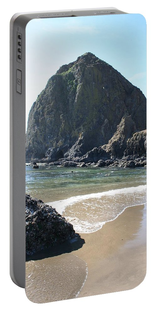 Coastal Landscape Portable Battery Charger featuring the photograph Coastal Landscape - Cannon Beach Afternoon - Scenic Lanscape by Quin Sweetman