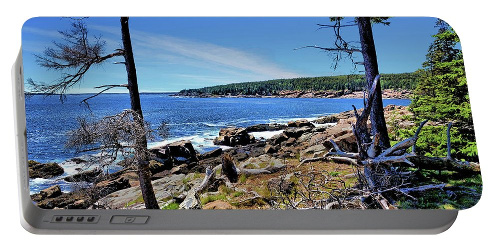 Coastline Portable Battery Charger featuring the photograph Coastline At Otter Point 1 by John Trommer
