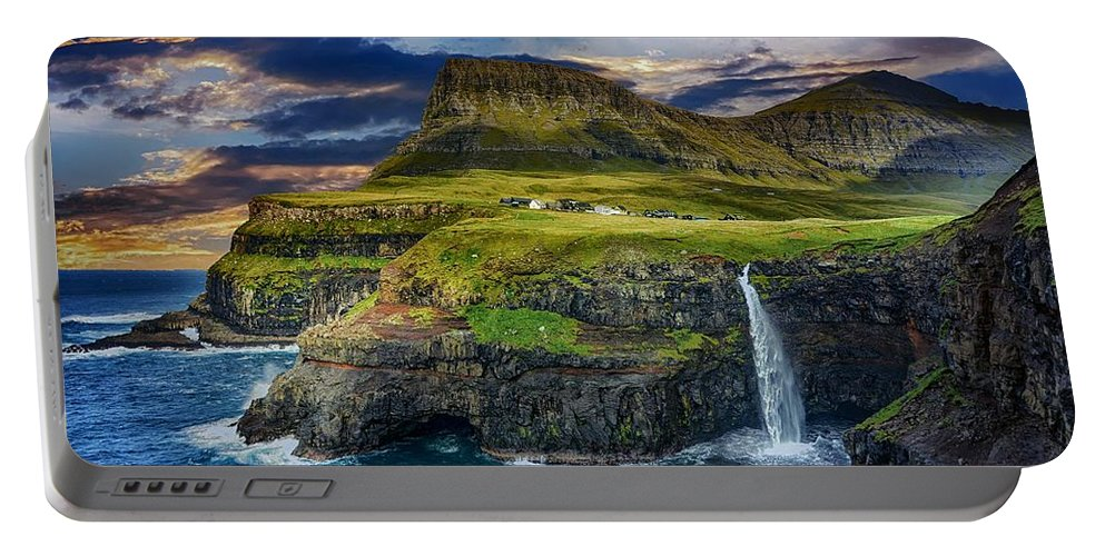Coastline Portable Battery Charger featuring the photograph Coastline by Dawn Van Doorn
