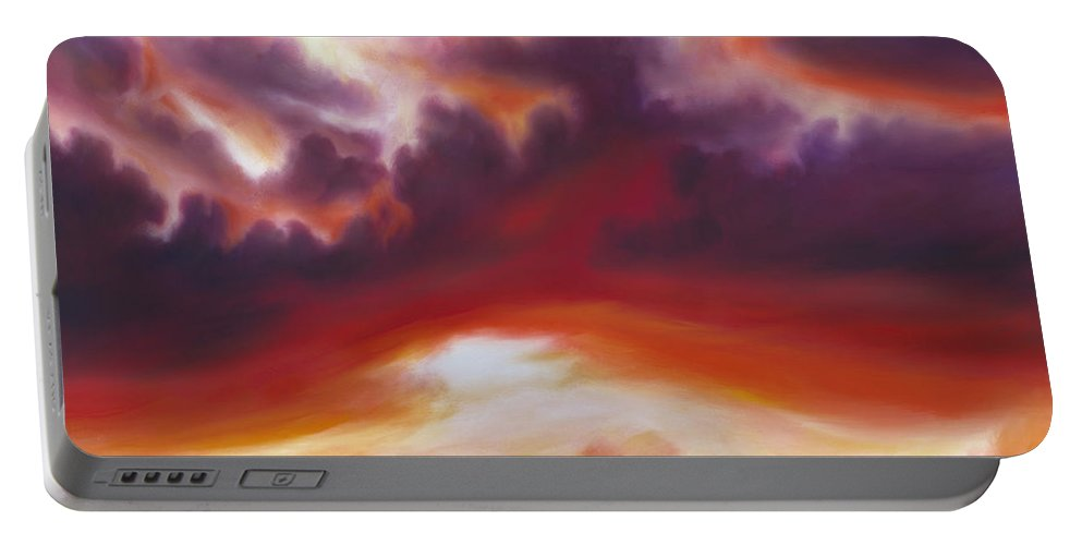 Skyscape Portable Battery Charger featuring the painting Coastline by James Christopher Hill