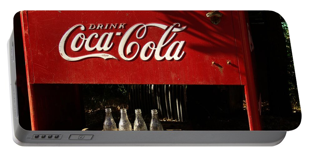 Coke Portable Battery Charger featuring the photograph Coca-cola by Carol Milisen