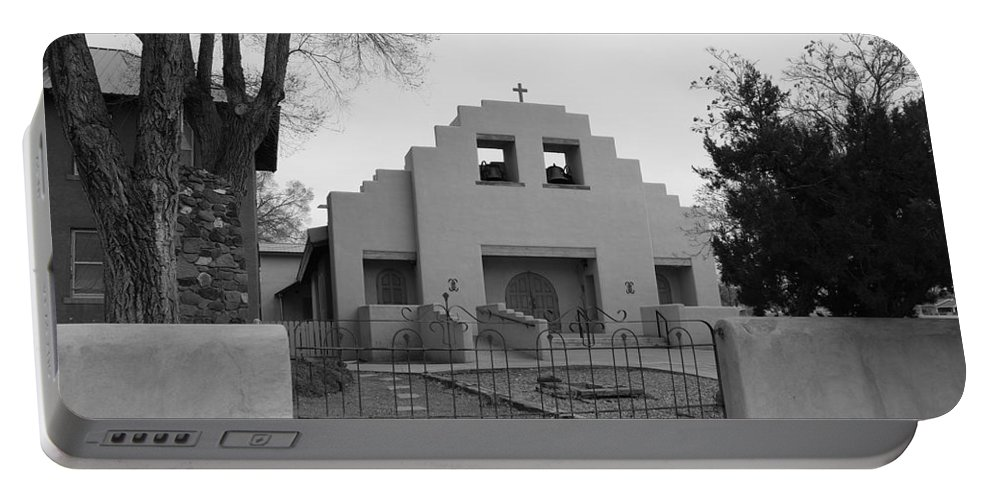 Architecture Portable Battery Charger featuring the photograph Cochiti Church by Rob Hans