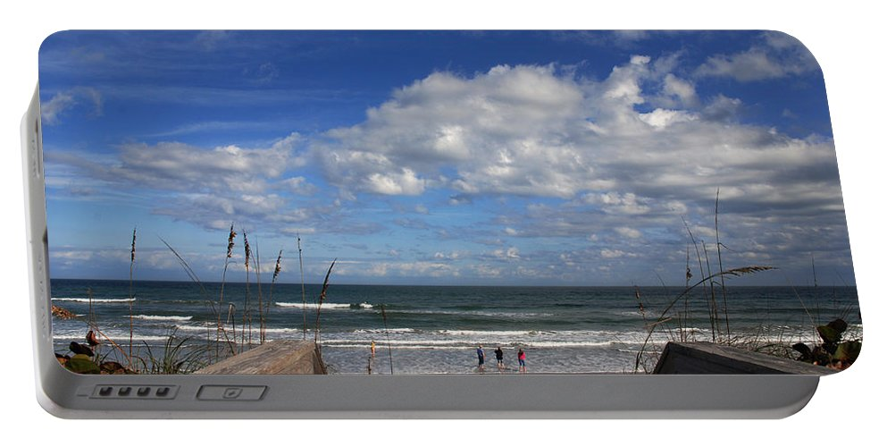 Photography Portable Battery Charger featuring the photograph Cocoa Beach Florida by Susanne Van Hulst