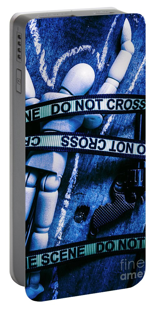Gun Portable Battery Charger featuring the photograph Code Blue Csi by Jorgo Photography - Wall Art Gallery