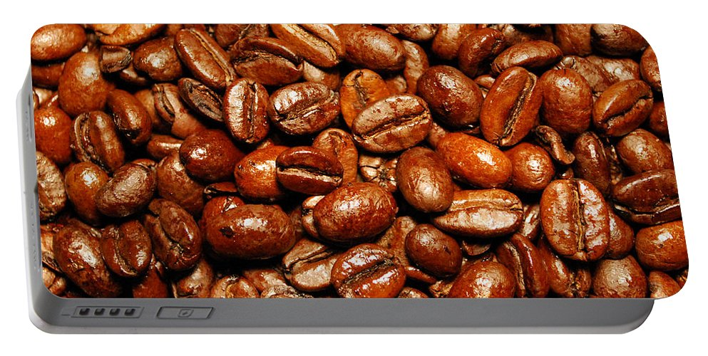 Coffee Portable Battery Charger featuring the photograph Coffee Beans by Nancy Mueller