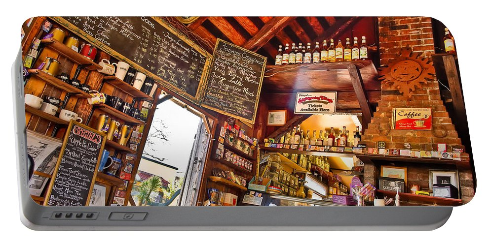 Coffeeshop Portable Battery Charger featuring the photograph Coffee House by Rich Leighton