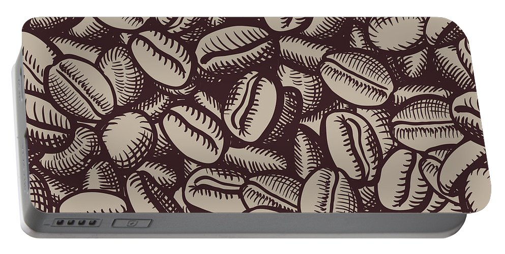 Coffee Portable Battery Charger featuring the digital art Coffee In Grain by Long Shot