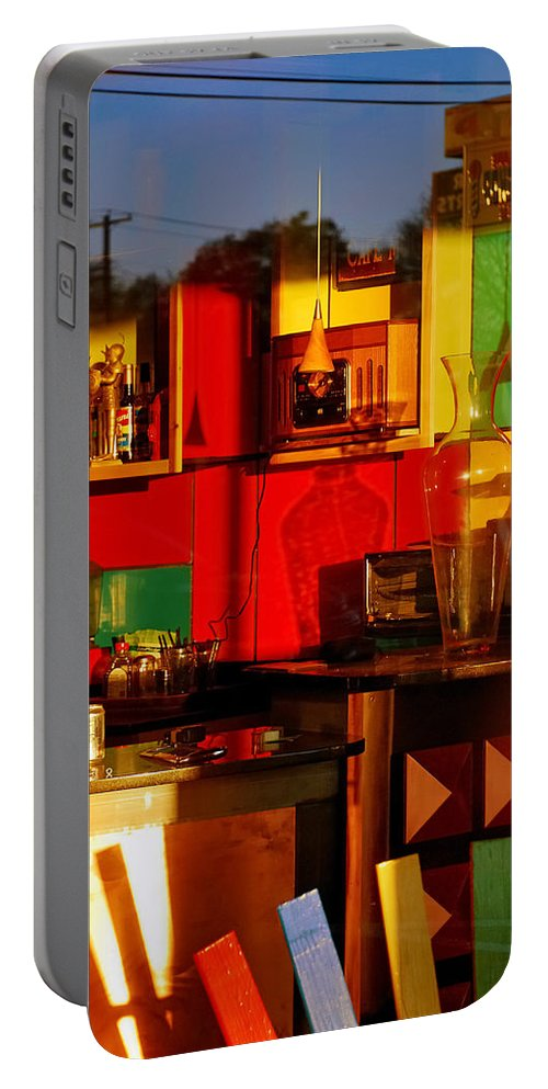Skip Hunt Portable Battery Charger featuring the photograph Coffee Shop by Skip Hunt