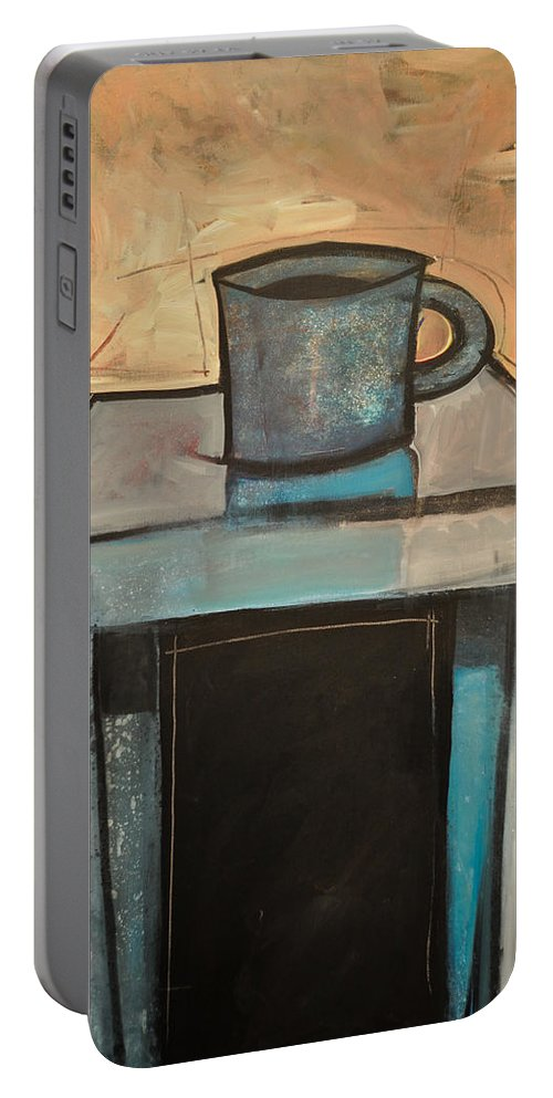 Coffee Portable Battery Charger featuring the painting Coffee Table by Tim Nyberg