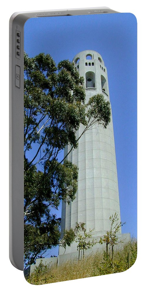 Coit Portable Battery Charger featuring the photograph Coit Tower by Douglas Barnett