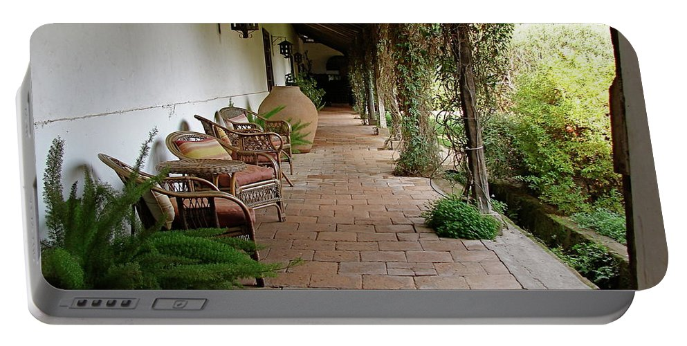 Colchagua Portable Battery Charger featuring the photograph Colchagua Valley Porch by Brett Winn