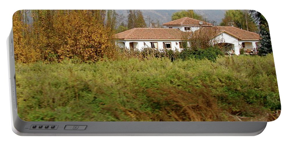 Colchagua Portable Battery Charger featuring the photograph Colchagua Valley Villa by Brett Winn