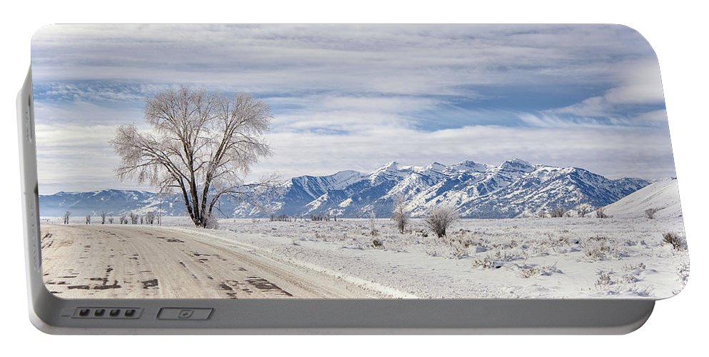 Winter Portable Battery Charger featuring the photograph Cold Winter Day by Stacy White