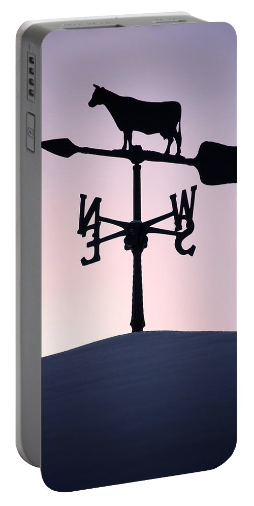Winter Portable Battery Charger featuring the photograph Cold Winter Sky by Lisa Knechtel