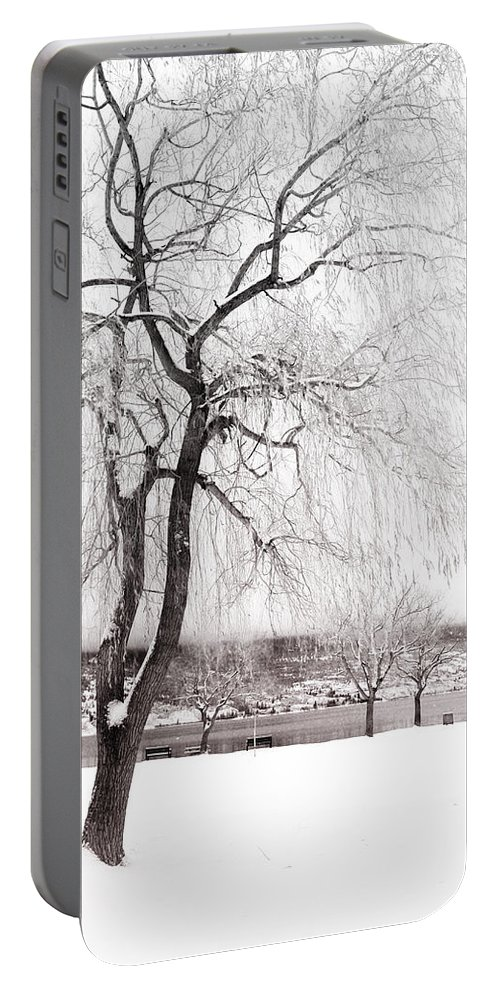 Tree Portable Battery Charger featuring the photograph Coldness by Tara Turner