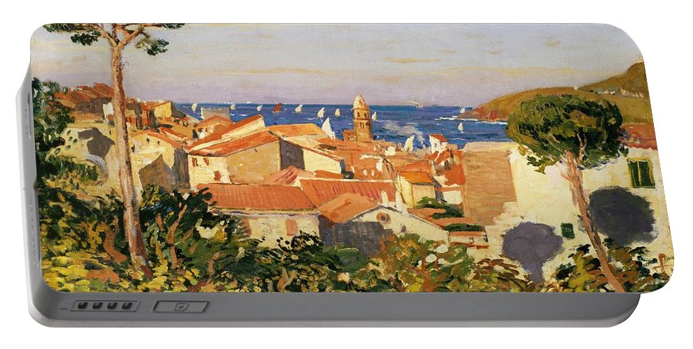 Collioure Portable Battery Charger featuring the painting Collioure by James Dickson Innes
