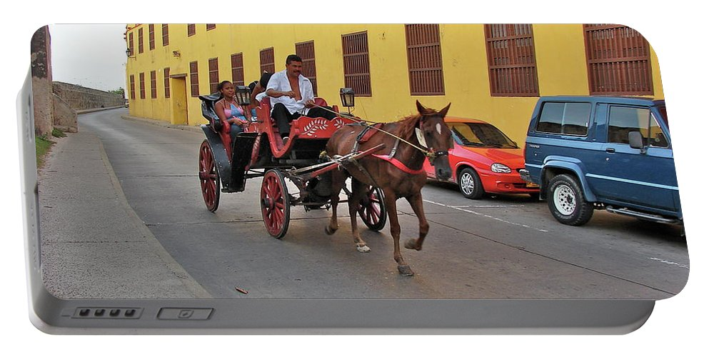 Columbia Portable Battery Charger featuring the photograph Colombia Carriage by Brett Winn