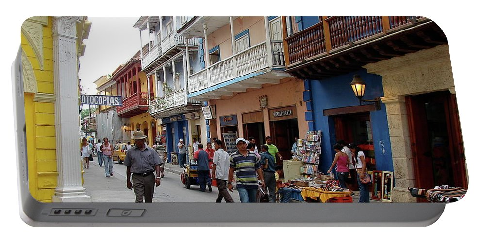 Colombia Portable Battery Charger featuring the photograph Colombia Streets by Brett Winn