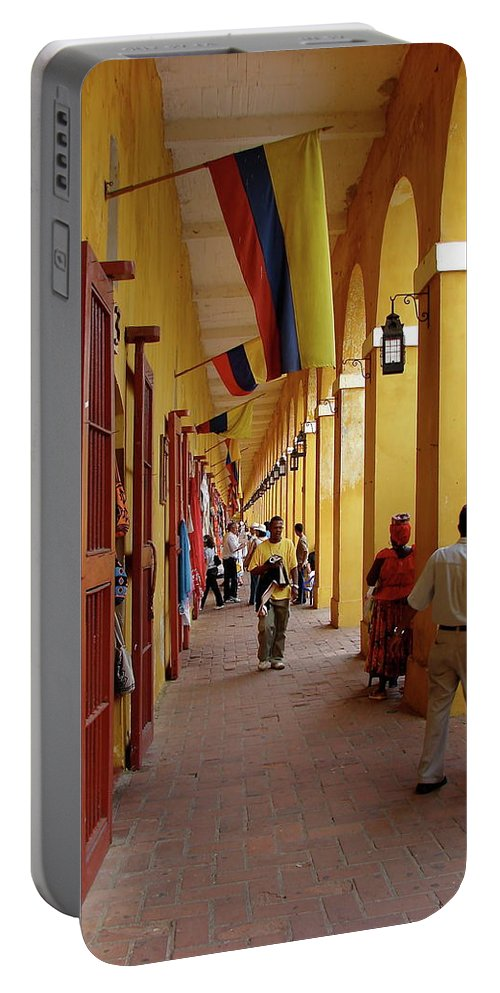 Colombia Portable Battery Charger featuring the photograph Colombia Walkway by Brett Winn