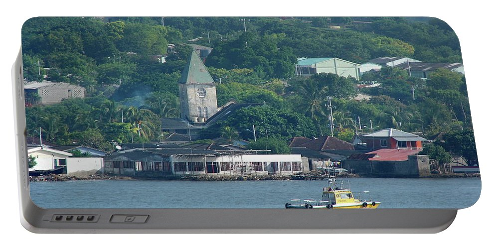 Church Portable Battery Charger featuring the photograph Colombian Seaside Church by Brett Winn