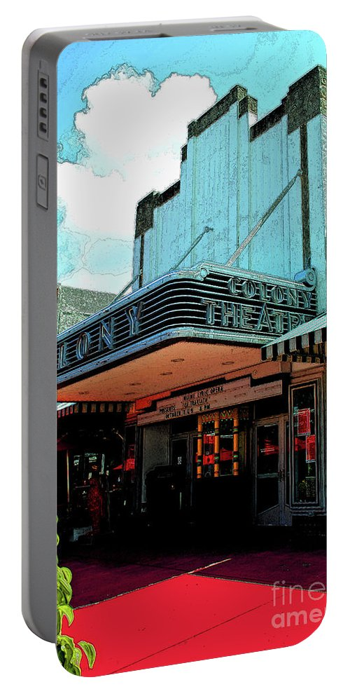 Hotel Portable Battery Charger featuring the photograph Colony Theatre by Jost Houk