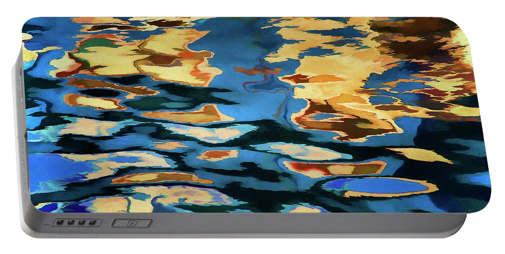 Abstract Portable Battery Charger featuring the photograph Color Abstraction Lxix by David Gordon