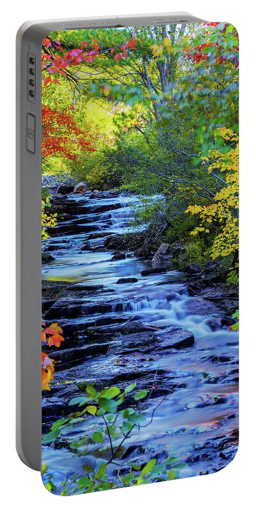 Color Alley Portable Battery Charger featuring the photograph Color Alley by Chad Dutson