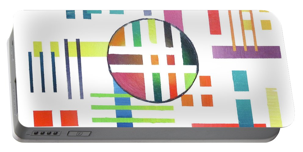 Color Portable Battery Charger featuring the painting Color And Form by Jeremy Aiyadurai