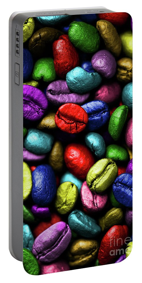 Coffee Portable Battery Charger featuring the photograph Color Full Coffe Beans by Pawel Zaremba