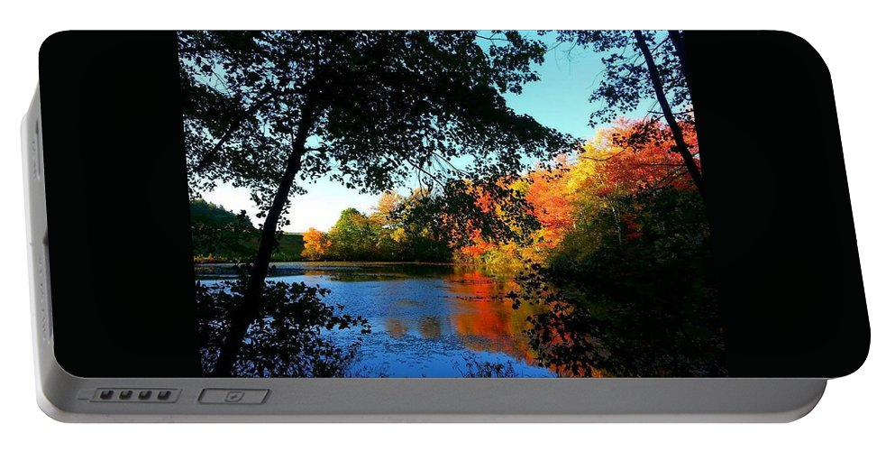 Autumn Portable Battery Charger featuring the photograph Color Leak by Dani McEvoy