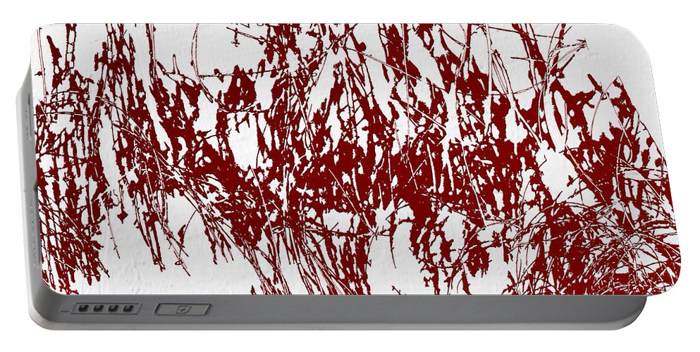 Blood Portable Battery Charger featuring the digital art Color Me Dexter by Ken Walker