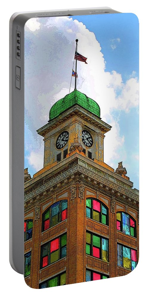City Hall Portable Battery Charger featuring the photograph Color Of City Hall by Jost Houk