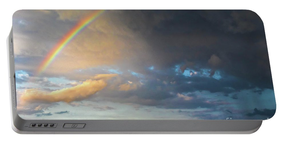 Color Of The Rain Portable Battery Charger featuring the photograph Color Of The Rain by Mitch Shindelbower