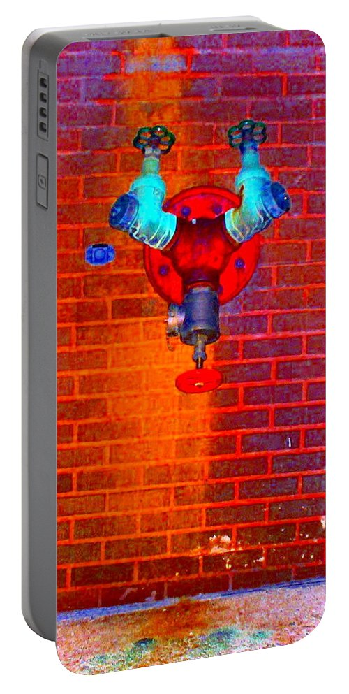 Color Photograph Portable Battery Charger featuring the photograph Color Pipe by Thomas Valentine
