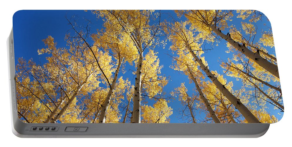 Aspen Portable Battery Charger featuring the photograph Colorado Aspen by Jerry McElroy