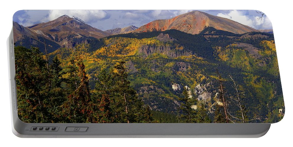 Mountain Portable Battery Charger featuring the photograph Colorado Fall by Marty Koch