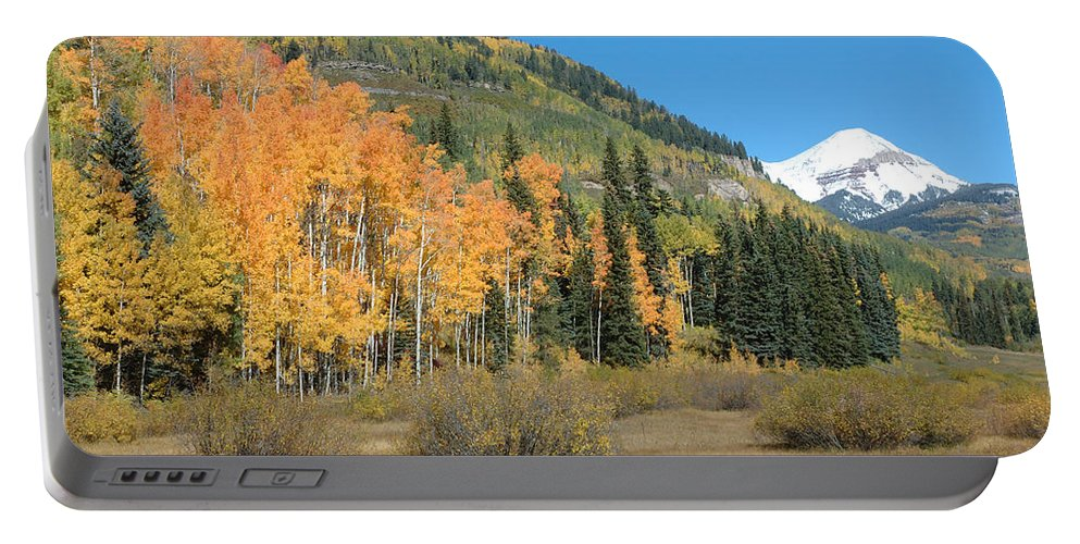 Aspen Portable Battery Charger featuring the photograph Colorado Gold by Jerry McElroy